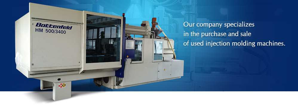 Trade with used injection molding machines, tranport and